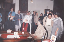 Bashir Ahmad with M.F. Husain and National College of Arts Faculty 2004