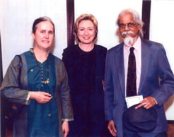 Mohan Samant with Hillary Clinton